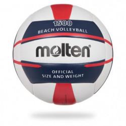 MOLTEN Ballon de Beach-Volley - Blanc, Bleu et Rouge