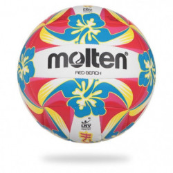 MOLTEN Ballon De Beach-Volley Logo Lnv - Rouge et Jaune