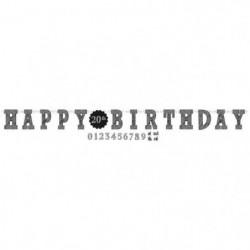 AMSCAN Guirlande lettres Happy Birthday 3,20 m x 25 cm