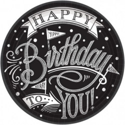 AMSCAN Lot de 18 Assiettes carton Hooray It's Your Birthday