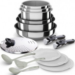BACKEN 399915 - Batterie de  cuisine 15 pieces  inox - Tous