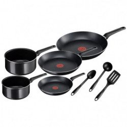 TEFAL B3099002 Essentual Batterie de cuisine 8 pieces - noir