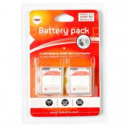 2 x batteries pour GoPro hero 3+ et GoPro 3 - MP EXTRA