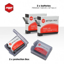 2 x batteries pour GoPro hero 4 - MP EXTRA
