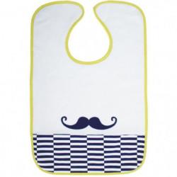 BABYCALIN Bavoir 2eme Age Moustache a Velcro