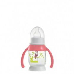 BEABA Biberon demi-lune Bunny poignée pink 120 ml