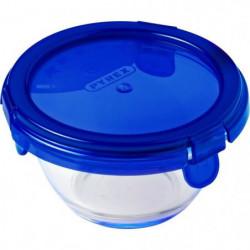 PYREX - COOK&GO - Boîte ronde en vere avec couvercle  11*6 c