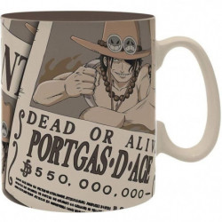 Mug One Piece - 460 ml - Wanted Ace - porcelaine avec boîte