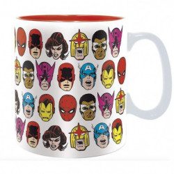 Mug Marvel - 460 ml - Marvel Heads - boîte - ABYstyle