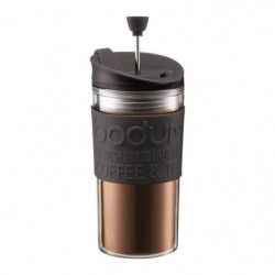 BODUM TRAVEL PRESS Mug a piston isotherme - 0,35 L - Noir