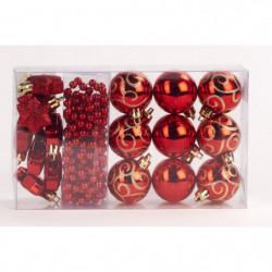 Kit de 14 suspensions de Noël en PVC - Boules, étoiles et gu