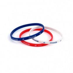 FFF Lot de 3 Bracelets en silicone - Tricolore
