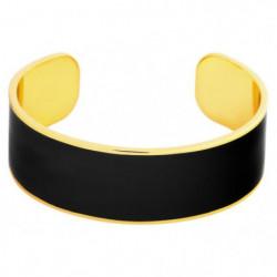 ODISSI Bracelet Bangle Laiton ODI003 Noir et Doré Femme
