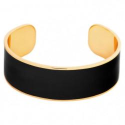 ODISSI Bracelet Bangle Laiton ODI003R Noir et Rose Doré Femm
