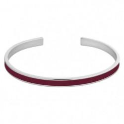 ODISSI Bracelet Bangle Laiton ODI014R Rouge et Rose Doré Fem