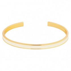 ODISSI Bracelet Bangle Laiton ODI018R Blanc et Rose Doré Fem