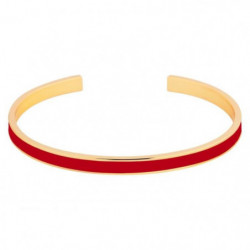 ODISSI Bracelet Bangle Laiton ODI019 Rouge et Doré Femme