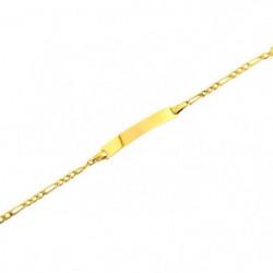 Bracelet Identité Or Jaune 375/1000