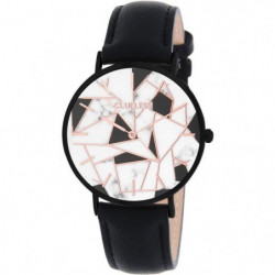 CLUELESS-BCL10192-002/ Montre Cuir Noir Cadran Noir Multicol