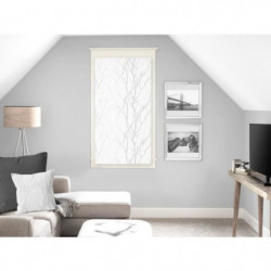 SOLEIL D'OCRE Brise bise Liane 45x90 cm - Blanc