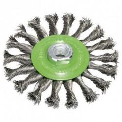 BOSCH Brosse circulaire Diam : 115 mm - Fil en acier inoxyda