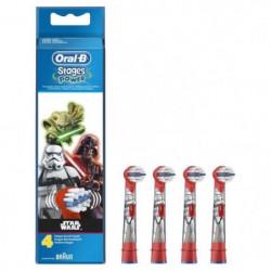 Oral-B Stages Power 4 brossettes de rechange pour brosse a d