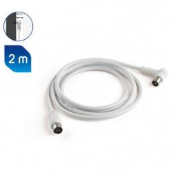 MELICONI Câble antenne - 75 Ohm - Adapteur mâle / mâle inclu