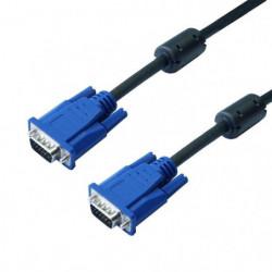 Câble VGA HD15 Mâle 10m - Permet de relier entre eux pour un