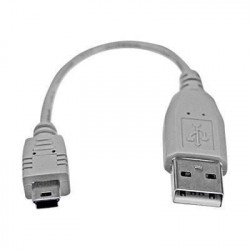 Câble USB 2.0 A vers Mini B de 15 cm - M/M - Cordon USB A ve