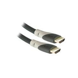APM 590001 Câble HDMI Mâle / Mâle 1.3b - Plugs Gris or - 1.8