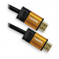 APM 590451 Câble HDMI Mâle / Mâle 1.4 - Plugs Jaune Or - 5 m