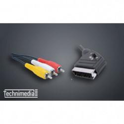 TECHNIMEDIA 9165TM28 Câble péritel / 3 RCA - 1m50