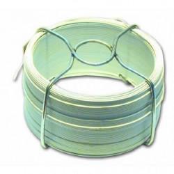 Fil en acier plastifié - L 30 m - Extérieur Ø 1,4 mm - Blanc