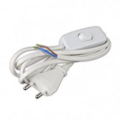 Cordon d'alimentation 1,5m 2x0,75mm² avec interrupteur pour