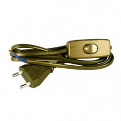 Cordon d'alimentation 1,5m 2x0,75mm² avec interrupteur pour 43674