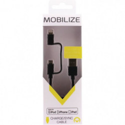 MOBILIZE Câble de charge et synchronisation 2 in 1 USB Micro