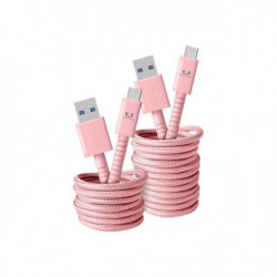 FRESH?N REBEL Câble USB Type-C Fabriq 1,5 m Rose clair