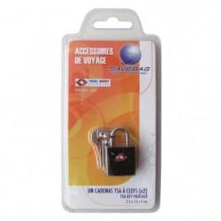 SAVEBAG Cadenas TSA a 2 clefs en métal - Noir