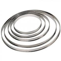 DE BUYER Cercle a tarte - Inox - Ø 22 x H 2 cm - Tous feux d