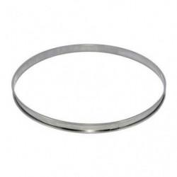 DE BUYER Cercle à tarte - Inox - Ø 24 x H 2 cm - Tous feux d