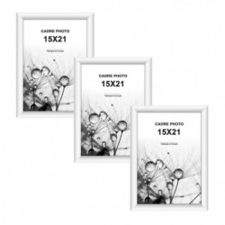 MODENA Lot de 3 cadres photos 15x21 cm Blanc mat