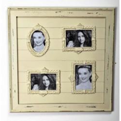 Cadre pour 4 photos - 56 x 2,5 x 56 cm