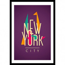 NY Affiche encadrée 40x60cm - New York City