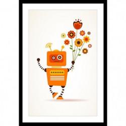 Affiche encadrée 40x60cm - Orange