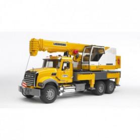 BRUDER - 2818 - Camion MACK avec grue Liebherr intégrée