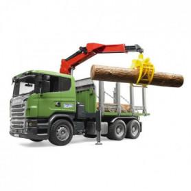 BRUDER 3524 Camion de tranport de bois SCANIA R-Serie