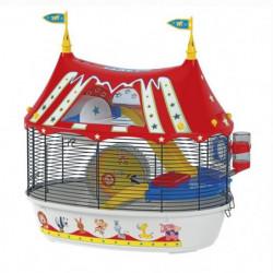FERPLAST Cage Circus Fun 49,5x34x42,5 cm - Rouge - Pour hams
