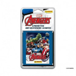AVENGERS SECRET WARS Blister 6 pochettes (de 5 stickers + 1