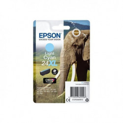 EPSON Cartouche T2435 - Eléphant - Cyan Clair XL