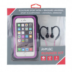 R-MUSIC Runner Kit - Ecouteurs intra-auriculaires filaires + 45548